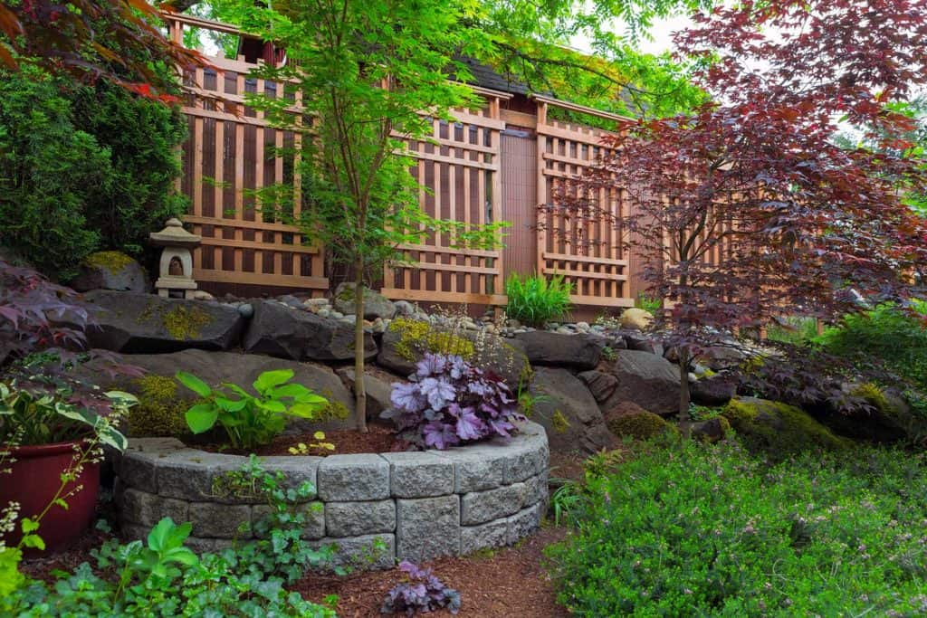 Professional Hardscaping Services - stone and fence