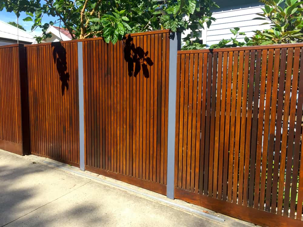 hardscape - wood fencing